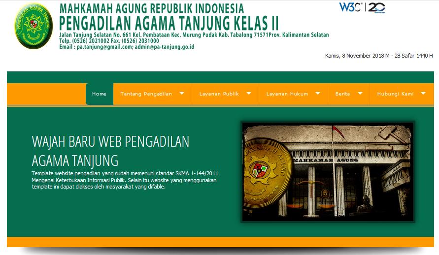 Selamat Datang di Web Pengadilan Agama Tanjung
